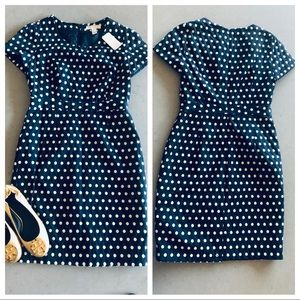 Forever 21 Classic Polka Dot Structured Dress, M